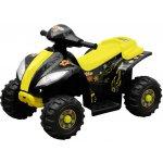 vidaXL 80052 Elektrická čtyřkolka pro děti žlutá s černou barvou
