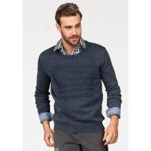 Rhode Island Pletený pulovr, washed-námořní modř