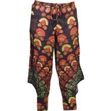 Sanu Babu Dlouhé letní černé kalhoty s potiskem 1623d6bfb7