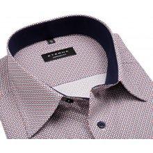 Eterna Comfort Fit – košile s červeno-modrým vzorem a vnitřním límcem - extra  prodloužený 054c1f432d