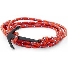 Trendhim červeno-černý náramek Kotva XH-B-004