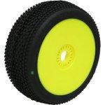 PROCIRCUIT HOT DICES soft/zelená směs Off-Road 1:8 Buggy gumy nalep. na žlutých disk. 2ks