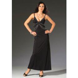 Plesové šaty Večerní společenské šaty s flitry černá bd778591d5