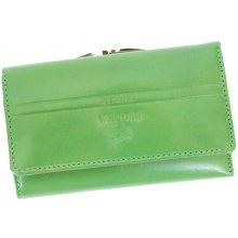 Emporio Valentini 563 PL10 zelená dámská kožená peněženka