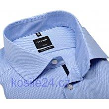 Olymp Luxor Modern Fit světle modro-bílá košile s vetkaným vzorem s vnitřním  límcem prodloužený e1d6b8ff4e