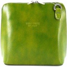 Arteddy dámská malá kožená kabelka crossbody zelená