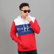 Diamond Supply Co. Yacht Hoodie červená / tmavě modrá / bílá