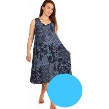 4d4ff5f73b1c YooY volné šaty s květinovým vzorem i pro plnoštíhlé světle modrá