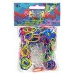 Gumičky Rainbow Loom® Original 600ks jelly mix transparentní