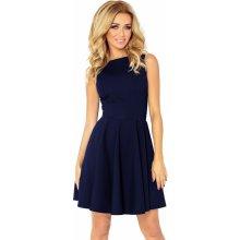 7e52c81afaf Numoco společenské a plesové exkluzivní šaty s kolovou sukní krátké tmavě  modrá