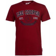 Lee Cooper Large Logo Vintage T Shirt Mens Vintage Red