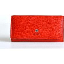 Valentini Dámská peněženka kožená na šířku s rámečkem na mince červená