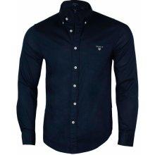 Gant Pánská košile s dlouhým rukávem - Černá be1cc4725f