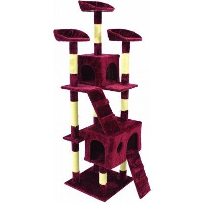 Goleto Škrabadlo pro kočky 170x62x75 cm, vínové