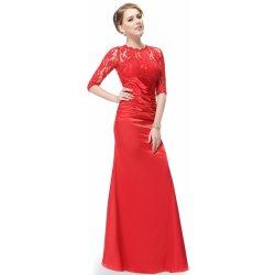 be83caa8698 Ever Pretty elegantní večerní šaty s tříčtvrtečními rukávy HE09882VE červená