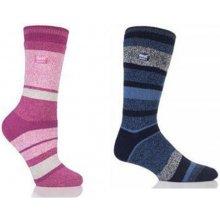 Heat Holders ponožky Lite dámské Pruhy modré 80c52b5b18