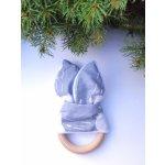 Kulišárny handmade Šustící kousátko šedý mráček