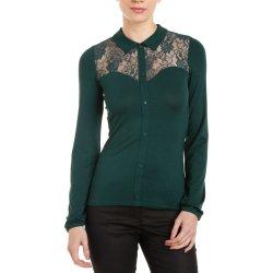 3Suisses dámská halenka s krajkou smaragdově zelená alternativy ... 8905ae541a