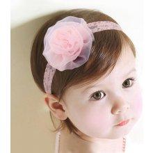 Čelenka pro miminka Flower růžová C72737