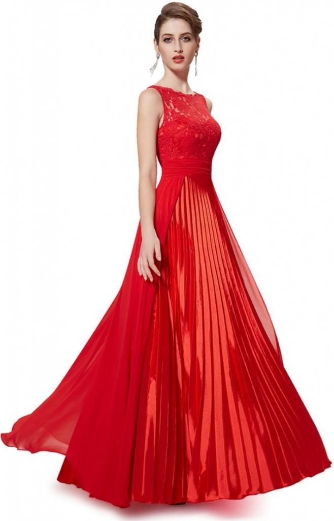 5d8f887ac464 Plesové šaty Ever Pretty plesové šaty červená 105EV - Seznamzboží.cz