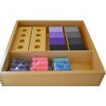 Montessori A073 stínování barev figurky s destičkami