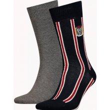 Tommy Hilfiger 2 pack pánských ponožek Crest Grey/Blue