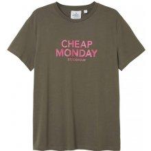 Cheap Monday Doodle Logo Tee Greige
