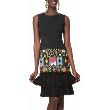 Desigual šaty Vest Elisabeth s barevnými motivy černá ffbe0ec652c