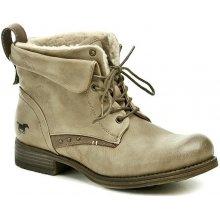 Mustang 1139 611 318 hnědé dámské kotníčkové boty