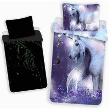Jerry Fabrics Povlečení Unicorn svítící efekt 140x200 70x90