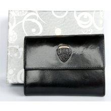 italská kožená peněženka Charro Urban Style černá