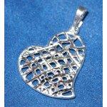 Přívěsek srdce 15011BG