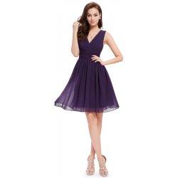 df0d20b9e97 Dámské šaty Ever-Pretty letní šaty krátké 3989 tmavě fialová