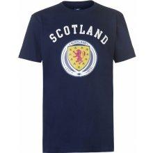 Source Lab Scotland Crest T Shirt Mens Navy