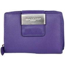 Fialová kvalitní kožená peněženka