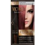 Victoria Beauty Keratin Therapy Tónovací šampón na vlasy V 43, Burgundy, 4-8 umytí