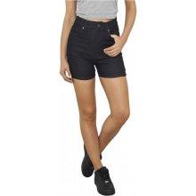Urban Classics Ladies High Waist Denim Skinny Shorts dark blue denim 0994dae9b9