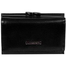 Lorenti Dámská elegantní malá kožená peněženka černá 55282 NIC Black