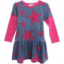 7c55803fb549 Topo Dívčí šaty s hvězdami šedo-růžové