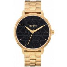 Nixon Kensington gold black stamped