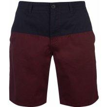 f5bfedd40373 Pierre Cardin Panel Chino shorts Mens Navy Burgundy