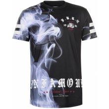Fabric Sublimation T Shirt Mens Smoke Black