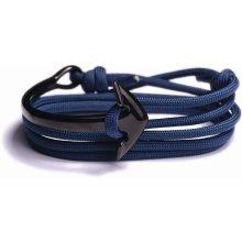 Lavaliere pánský náramek s kotvou modrý silný provázek kotva 05501
