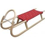Plastkon sáně dřevěné A2042 červená 125 cm