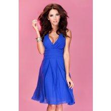 Luxusní dámské společenské a plesové šifonové šaty modré
