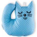 Šapitó Kotě světle modrý puntík chrastítko
