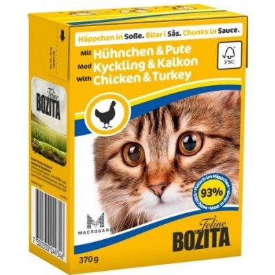 Bozita kuřecí a krůtí kousky v omáčce pro kočky 370 g