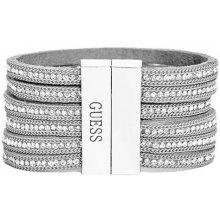 GUESS náramok Grey Rhinestone Friendship Bracelet P280970478A