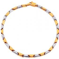 deff58089 iZlato Design zlatý kombinovaný náramek Cylinder válec IZ17020N od ...