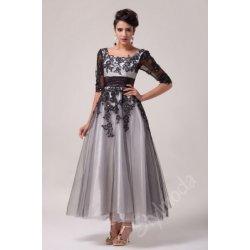 Společenské šaty   Plesové šaty dlouhé černé bílé CL6051 alternativy ... a2ff6837c6